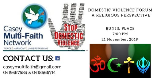 Domestic Violence Forum - A Religious Perspective
