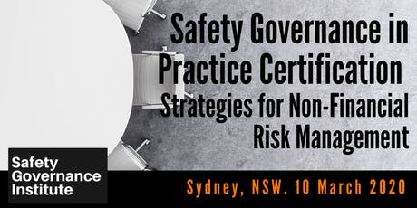 Safety Governance in Practice Certification (Sydney) tickets