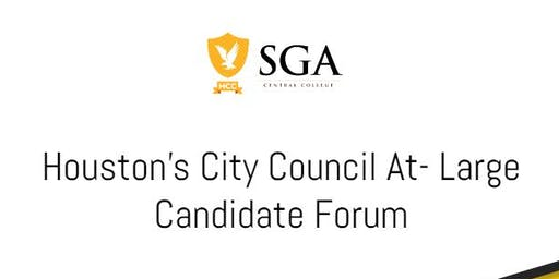 Houston's City Council At-Large Candidate Forum