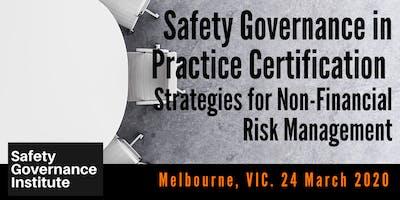 Safety Governance in Practice Certification (Melbourne)