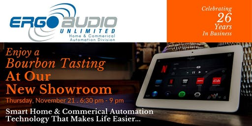 Bourbon Tasting at New Home Automation Showroom