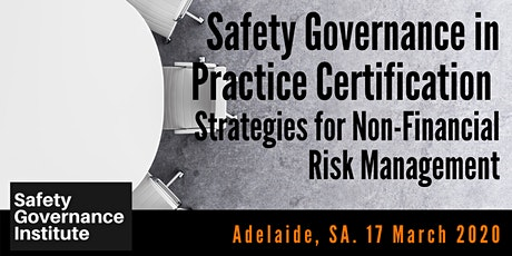 Safety Governance in Practice Certification (Adelaide) tickets