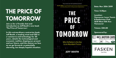 The Price of Tomorrow, a fireside chat with Jeff Booth tickets