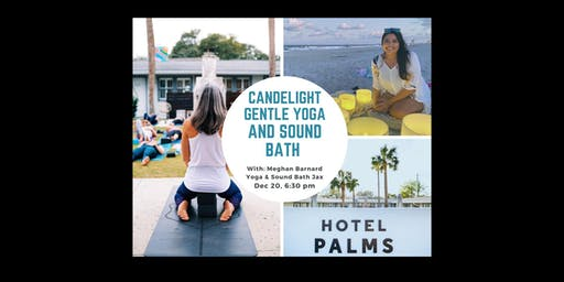 Candlelight gentle meditative yoga & sound bath with Sound Bath Jax
