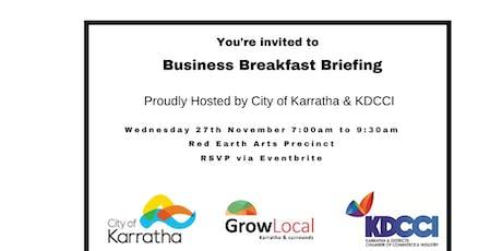 City of Karratha & KDCCI Breakfast Business Briefing tickets