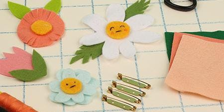 Felt Flower Badge Workshop