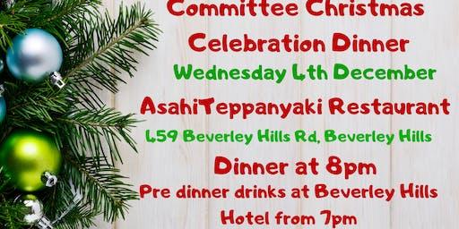 SSMBA Committee Xmas Dinner