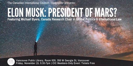 Elon Musk: President of Mars?