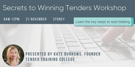 Secrets to Winning Tenders - learn the steps to start bidding tickets