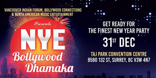 Bollywood Dhamaka - New Year's Eve 2020 Party in Surrey