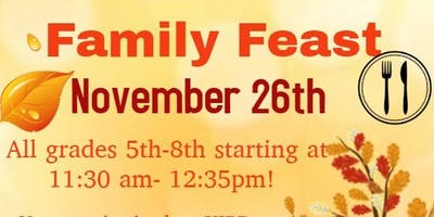 Family Fall Feast 7th and 8th grade!