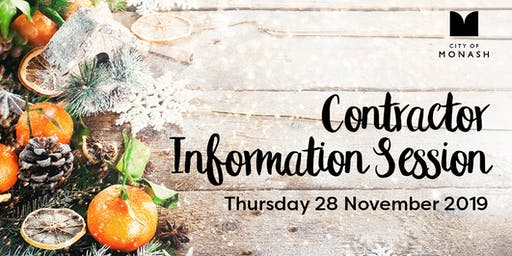 City of Monash - Contractor Information Session