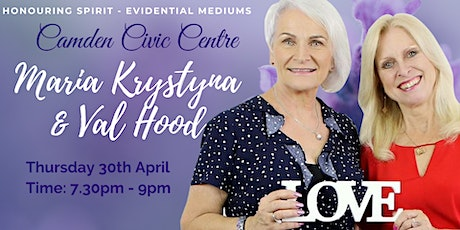 An Evening of Evidential Mediumship with Val Hood & Maria Krystyna tickets