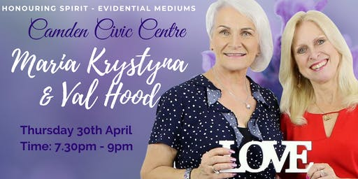 An Evening of Evidential Mediumship with Val Hood & Maria Krystyna