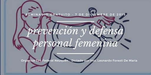 Seminario Gratuito Prevención y Defensa Personal Femenina