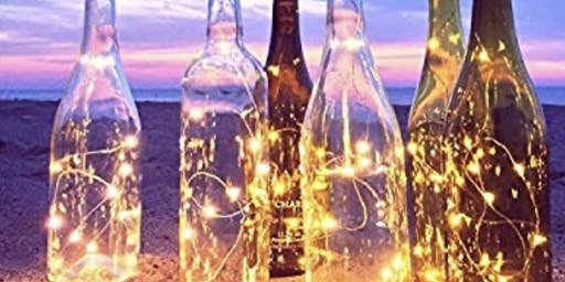 """Winter Wine Bottle Lamp""!"