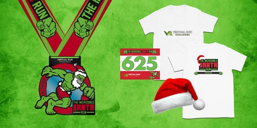 2019 - Incredible Santa Virtual 5k Run Walk - Dayton