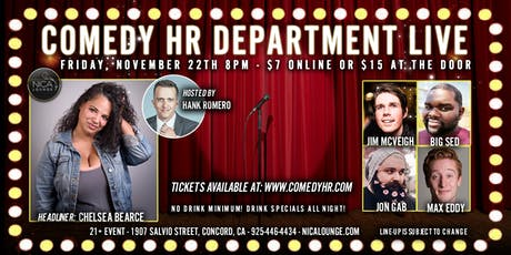 Comedy HR Department LIVE! Concord, CA - November 22nd tickets