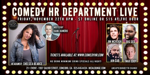 Comedy HR Department LIVE! Concord, CA - November 22nd