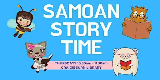 Samoan Bilingual Storytime, Ages: 0 - 5, FREE