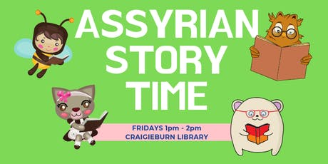 Assyrian Bilingual Storytime, Ages: 0 - 5, FREE tickets