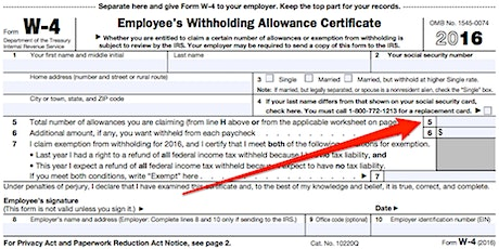 What can you do if you claim 9 allowances on a W-4 and DE-4 form? tickets