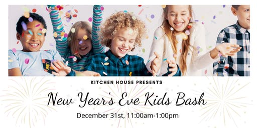 Mock New Year's Eve Day Party for Kids! 12/31 from 11am-1pm