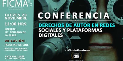 Conferencia derechos de autor en redes sociales y plataformas digitales
