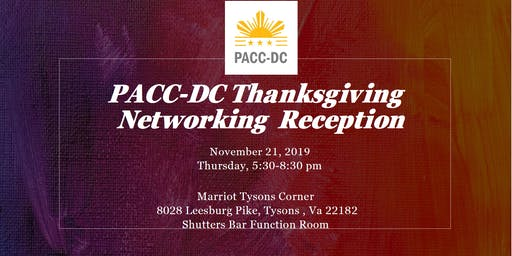 PACCDC Thanksgiving Networking Event Party
