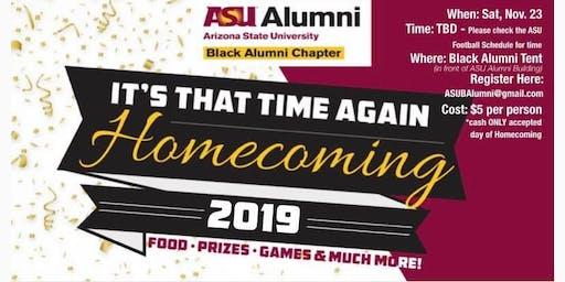 ASU Homecoming 2019. Donate$5.. food etc.. Register at ASUBAlumni@gmail.com