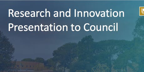 DVCR Research and Innovation update (as presented to Council) tickets