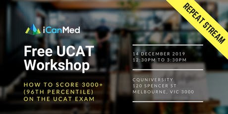 Free UCAT Workshop (MELB REPEAT): How to Score 3000+ (96th Percentile) on the UCAT Exam tickets