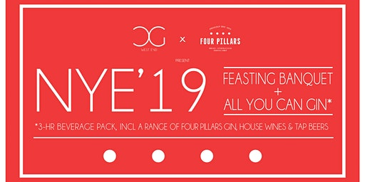 All You Can Gin NYE 2019 w/ 4-Course Feasting Banquet Dinner