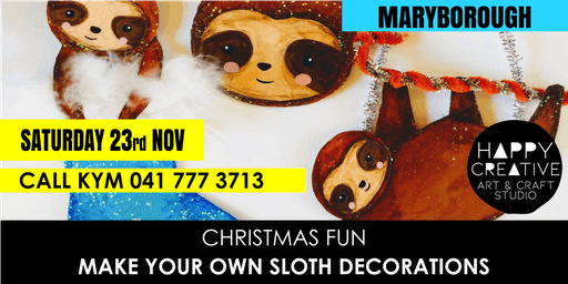 Sloth Christmas Decorations