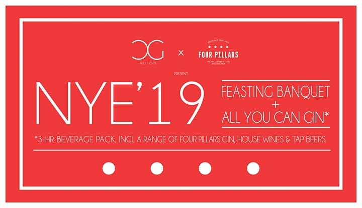 All You Can Gin NYE 2019 w/ 4-Course Feasting Banquet Dinner image