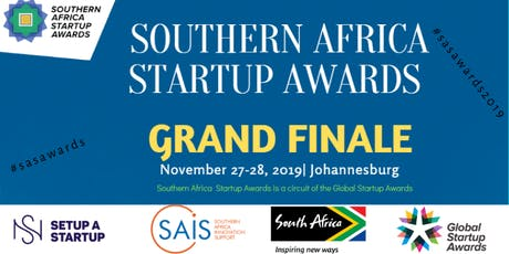 2019 SOUTHERN AFRICA STARTUP AWARDS -THE GRAND FINALE tickets