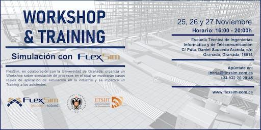FlexSim Workshop y Training en la Universidad de Granada