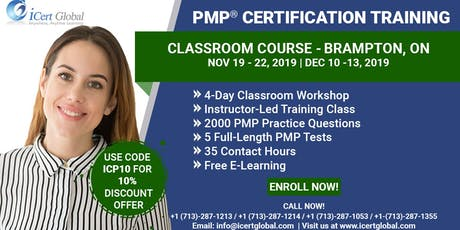 PMP® Certification Training Class Brampton, ON| iCert Global tickets