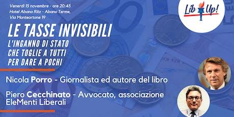 """Nicola Porro presenta """"Le tasse invisibili"""" ad Abano Terme biglietti"""