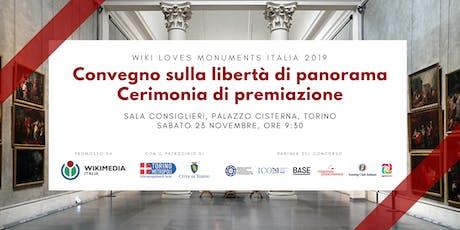 Convegno e cerimonia di premiazione Wiki Loves Monuments 2019 biglietti