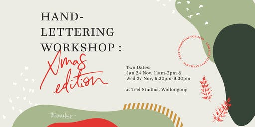 (Wednesday) Hand-Lettering Workshop: Christmas Edition