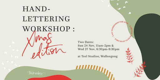 (Sunday) Hand-Lettering Workshop: Christmas Edition