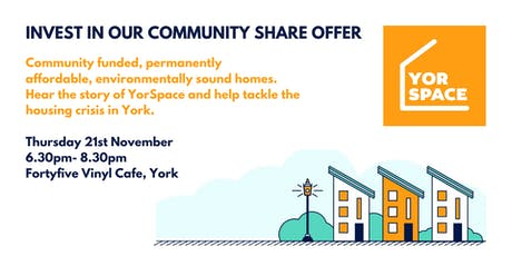 YorSpace Investor Networking event tickets