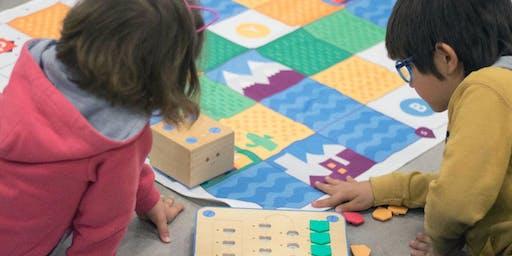 Taller de programación para niños y niñas con bloques de madera - Niños y niñas ( sin adultos) de 5 a 7 años.