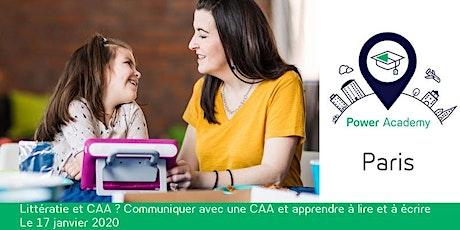 Littératie et CAA ? Communiquer avec une CAA et apprendre à lire et à écrire billets