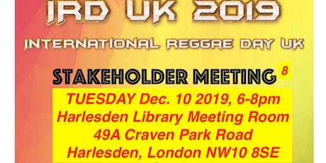 IRD (International Reggae Day) UK Stakeholder Meeting 8 tickets