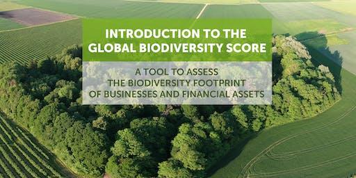 Global Biodiversity Score: measuring your biodiversity footprint