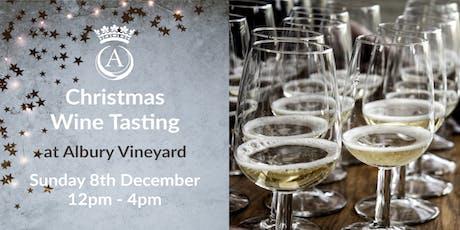 Christmas Wine Tasting at Albury Vineyard tickets