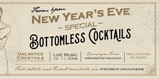 New Year's Eve - Bottomless Cocktails Special