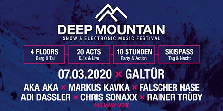 DEEP MOUNTAIN - Snow & Electronic Music Festival Tickets